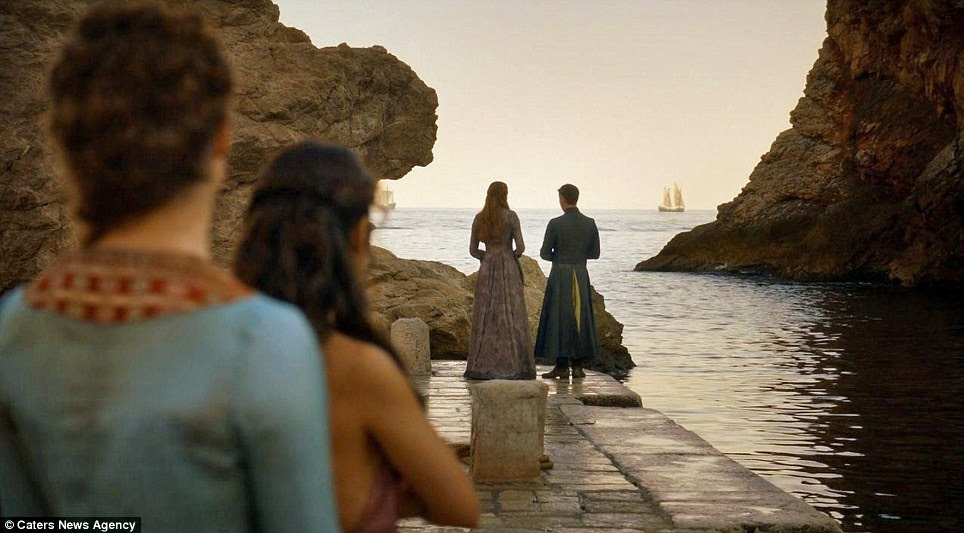 Rocky road: The dock at King's Landing has seen a few attack attempts and escapes throughout the four series