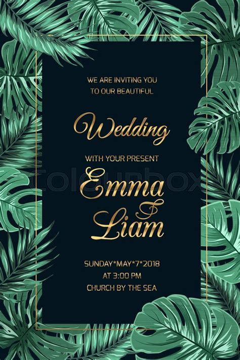 Wedding marriage invitation card     Stock Vector