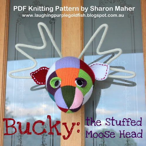 Bucky the Stuffed Moose Head