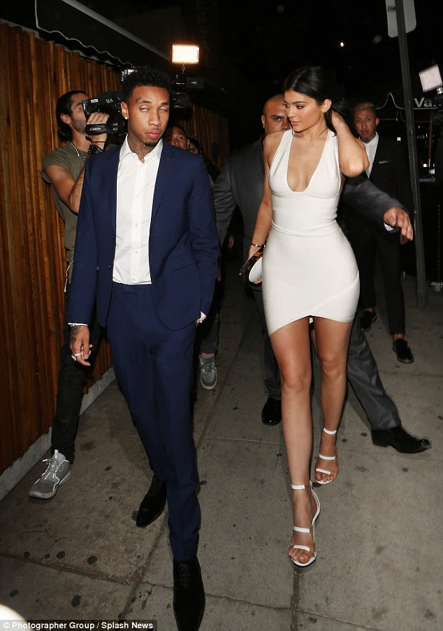 Reunited and it feels so good: That same evening, Kylie and her rapper boyfriend Tyga were reunited once again, despite rumours of a rift - he also appears in the video