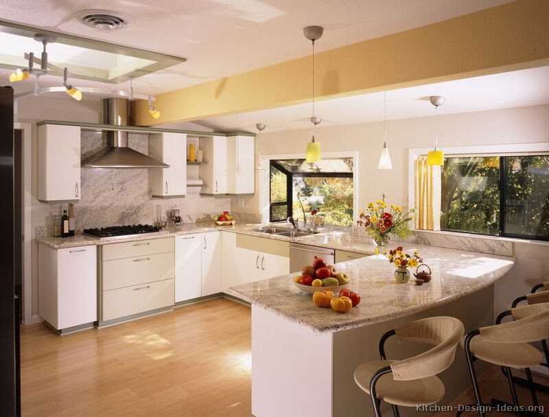 Pictures of Kitchens – Style: Modern Kitchen Design – Color: White Kitchen Cabinets  smiuchin