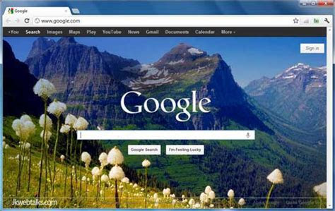 Jkwebtalks: Set Google Homepage Background To Bing Daily Image