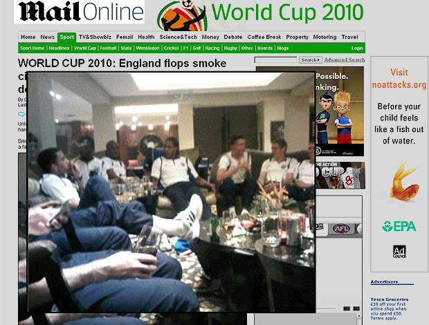 jogadores Inglaterra bebendo reprodução Mail Online