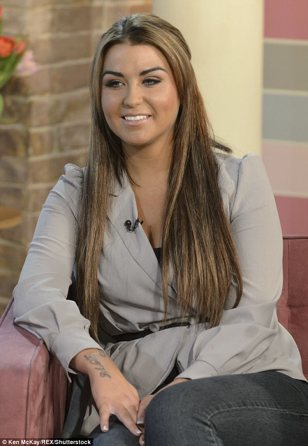 Scandal:Wayne's affair with ex-prostitute Jenny Thompson (pictured in 2012), who starred on Ex On The Beach earlier this year, was revealed in 2010