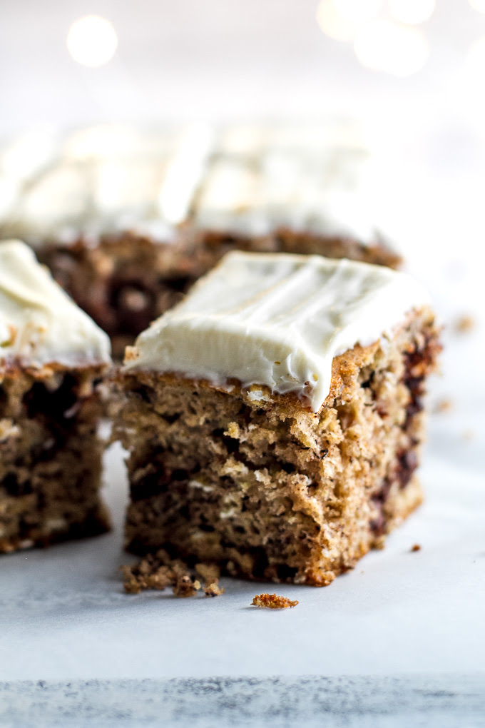 Healthy Banana Cake with Cream Cheese Frosting | running ...