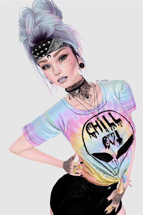 imvu hippie aesthetic girl cool artwork   dessin