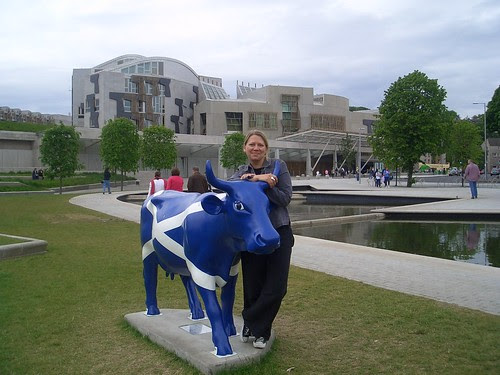 A cow, the Saltire, Scottish Parliament and me