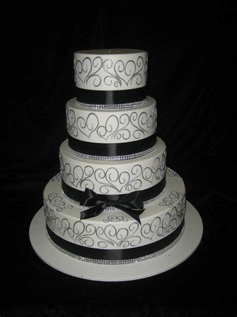 17 Best ideas about Silver Wedding Cakes on Pinterest