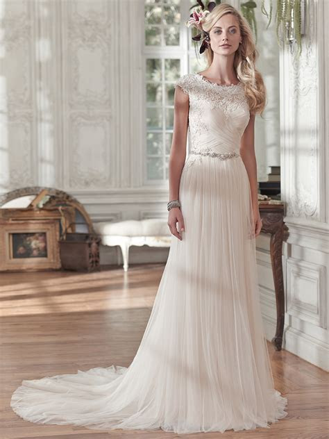 Maggie Sottero Patience Marie Cap Sleeves A line Bridal