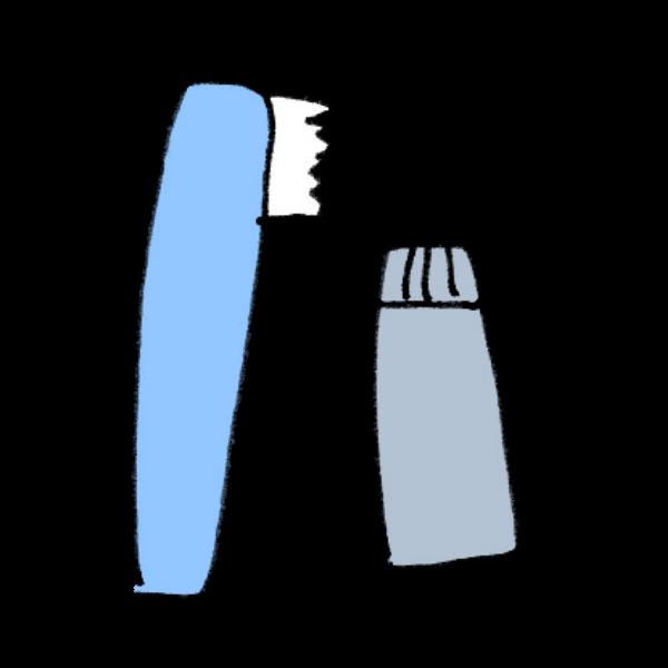 歯ブラシと歯磨き粉のイラスト かわいいフリー素材が無料のイラストレイン