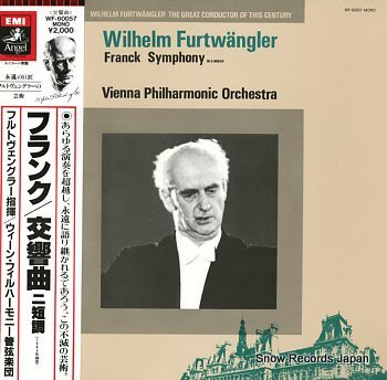 FURTWANGLER, WILHELM franck; symphony in d minor