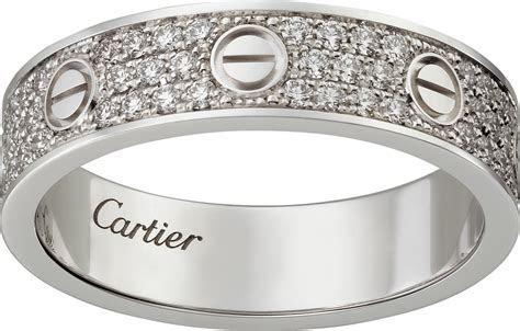 CRB4083400   LOVE wedding band, diamond paved   White gold