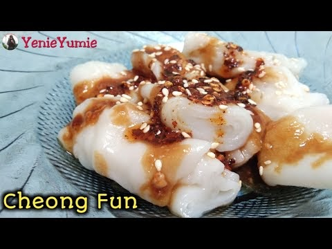 Chee Cheong Fun Jiong Fen Dimsum Hong Kong Steamed Rice Noodle Roll Chinese Food