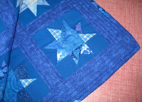 blue wonky star