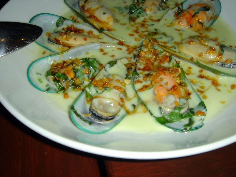 New Zealand Green Lip Mussels in Coconut Wasabi Bisque