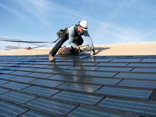 Shingles solar panels