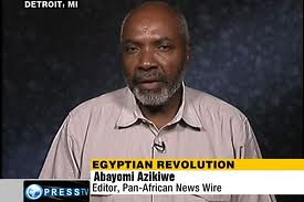 Abayomi Azikiwe, editor of the Pan-African News Wire, on Press TV discussing the political situation in Egypt on July 15, 2011. Azikiwe is an analyst on African affairs. by Pan-African News Wire File Photos