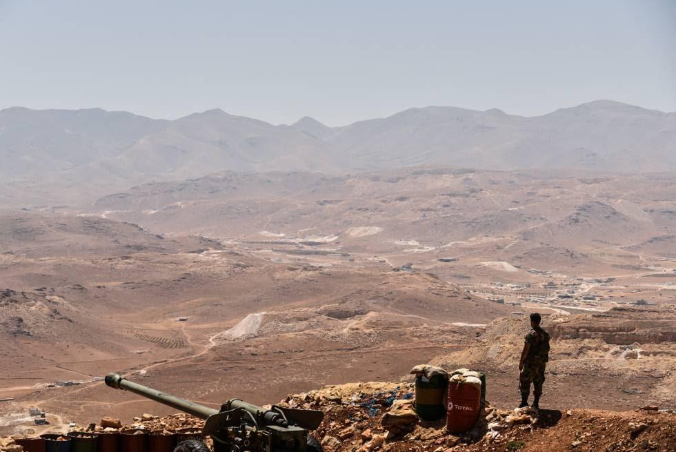 Posición del Ejército libanés situada a seis kilómetros de los yihadistas de Al Qaeda y a 20 kilómetros de la frontera con Siria este martes