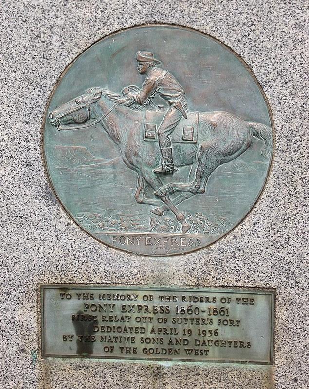 Rancho Cordova Pony Express Marker