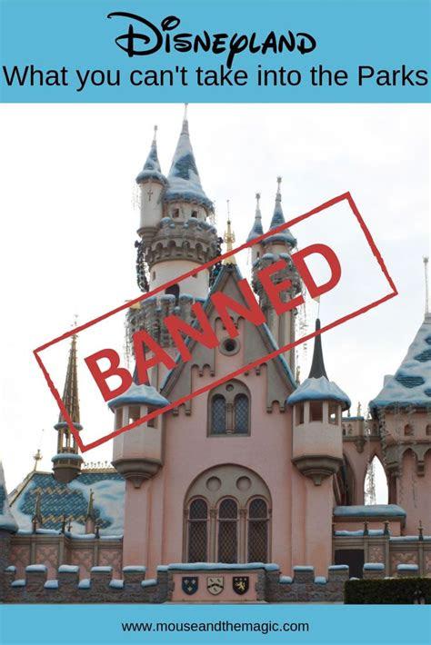 banned  disneyland       parks