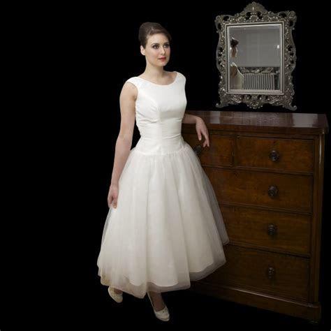 vAUDREY tea length 1950s Audrey Hepburn style wedding
