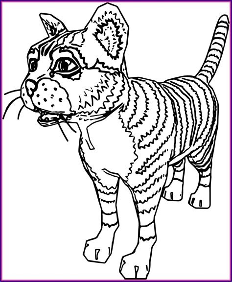 realistic cat coloring pages printable  getcoloringscom