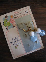 earrings on old button card