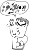 Screaming And Yelling Guy Clip Art