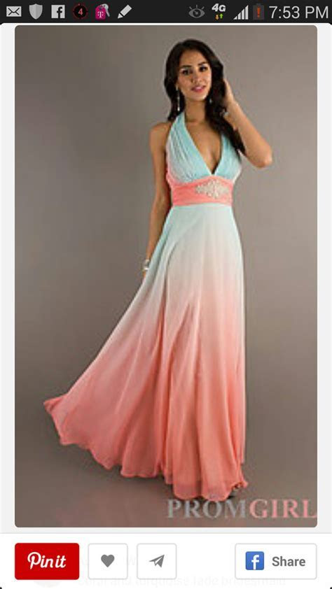 Halter Evening Gown, Betsy and Adam Long Ombre Dresses