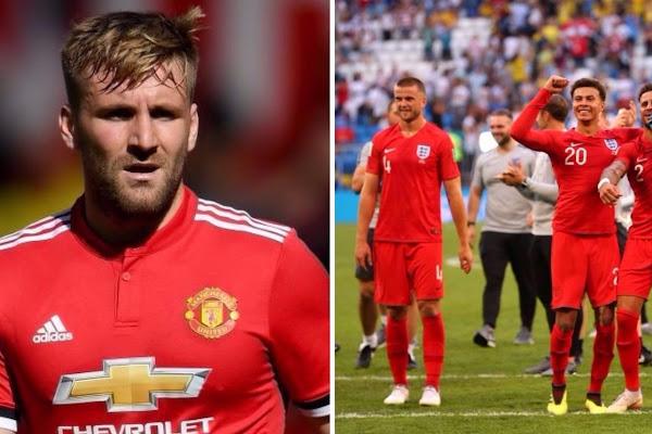 34b90f339f1 Man Utd: Luke Shaw's tweet after England win backfires spectacularly