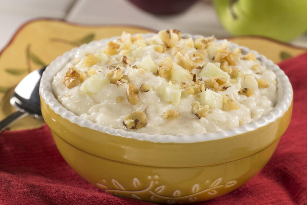 Creamy Rice and Apple Pudding | MrFood.com