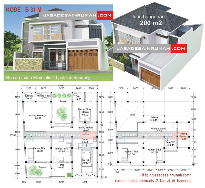 Rumah Indah Minimalis 2 Lantai di Bandung Jasa Desain Rumah