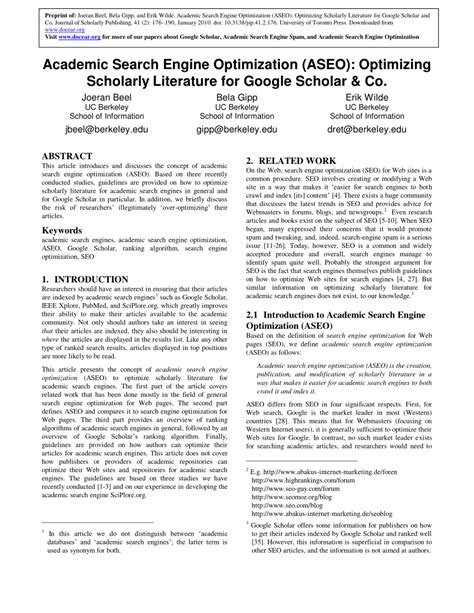 (PDF) Academic Search Engine Optimization ( ASEO
