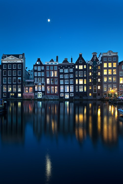 Moonrise, Amsterdam, The Netherlands