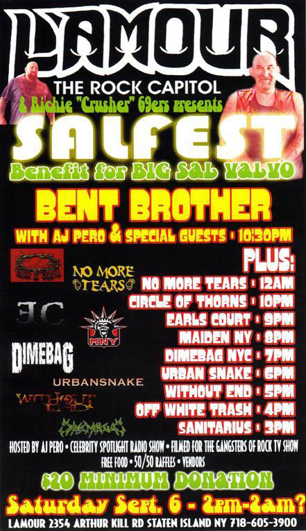 Twisted Sister Alter Ego Bent Brother Cancels Tonights Appearance