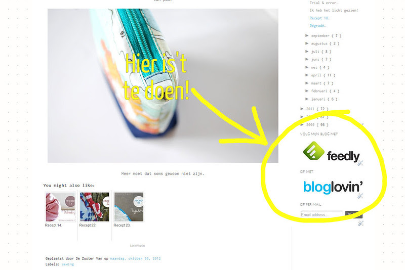 fEEDLY EN BLOGLOVIN
