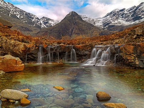 fairy pools isle  skye scotland desktop wallpaper