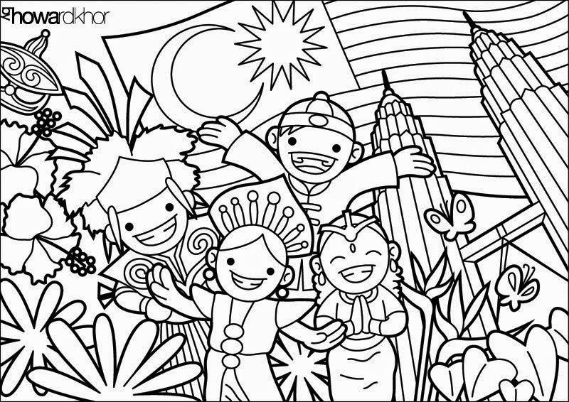 Gambar Mewarna Bendera Malaysia Gambar Mewarna
