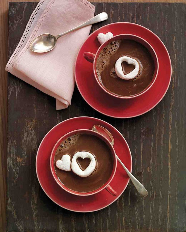 Heart hot cocoa! Click through for 35 amazing, over-the-top Valentine's Day ideas, including Valentine's crafts, Valentine's recipes, and Valentine's decorations, and more!