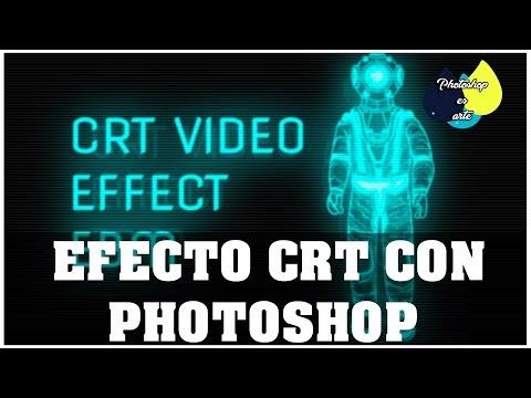 EFECTO DE VIDEO EN MONITOR CRT CON PHOTOSHOP