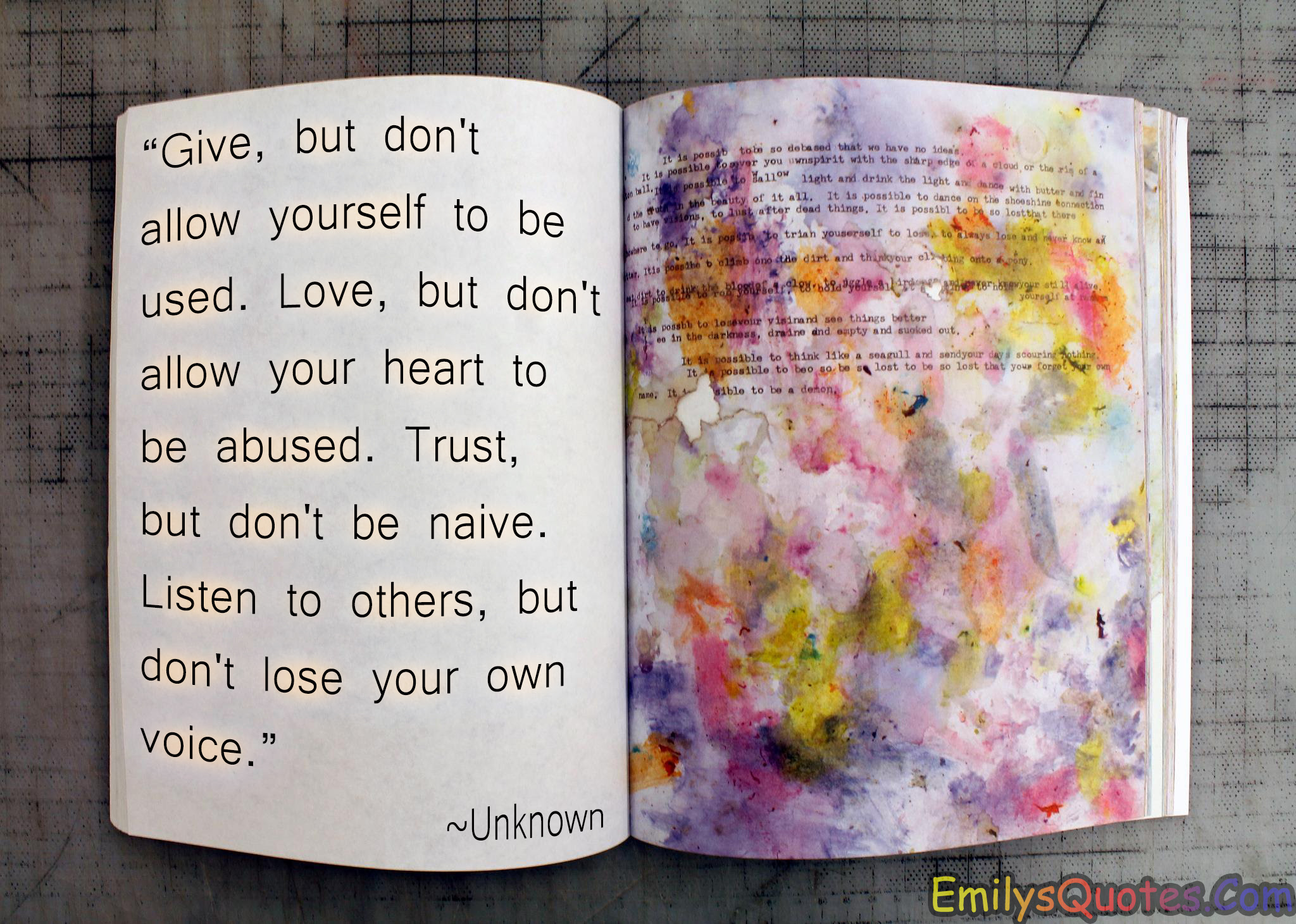 Give But Dont Allow Yourself To Be Used Love But Dont Allow