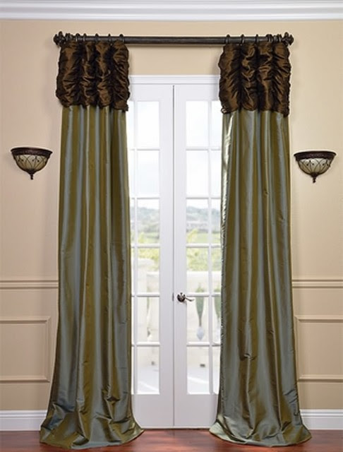 blue and brown curtains home design inside. Black Bedroom Furniture Sets. Home Design Ideas