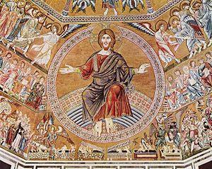 Florentine mosaic Last Judgement of about 1300