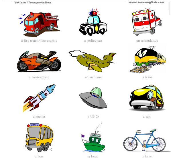 Dibujos De Varios Medios De Transporte Terrestre Imagui