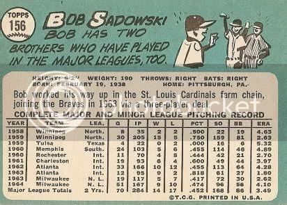 #156 Bob Sadowski (back)