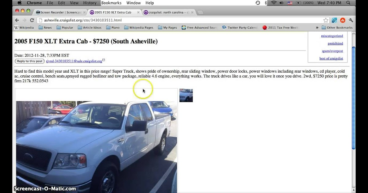 Asheville Craigslist Cars And Trucks For Sale By Owner Classic Car Walls