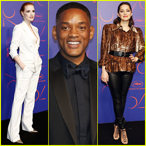 Jessica Chastain, Will Smith & Marion Cotillard Hit Carpet At Cannes 70th Anniversary Gala Dinner!