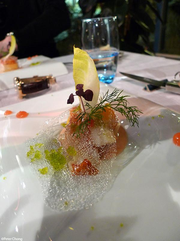 salad of endives with lobster at la maison du prussien nauchatel