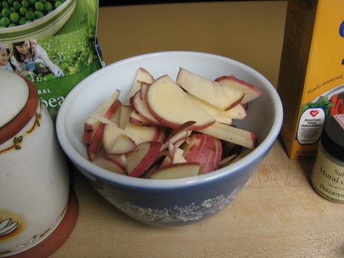 potatoes chopped