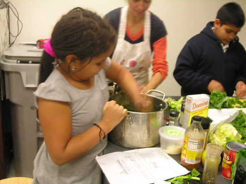making massaged kale salad - 7 nov 2012